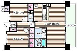 ロイヤル梅田シティ[9階]の間取り