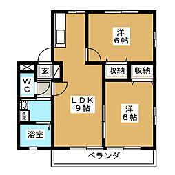 メゾンド前田B[2階]の間取り