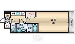 WGB江坂[8階]の間取り