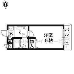 DETOM-1東福寺101[1階]の間取り