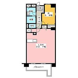 ロータリーマンション栄[13階]の間取り