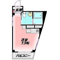 TOMOEマンション 3階1Kの間取り