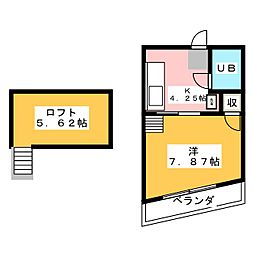 つつじハイツ[2階]の間取り