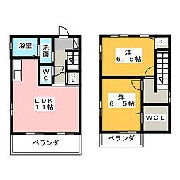 [テラスハウス] 愛知県春日井市如意申町4丁目 の賃貸【/】の間取り
