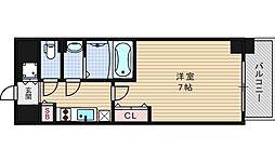 ファーストステージ江戸堀パークサイド[405号室]の間取り