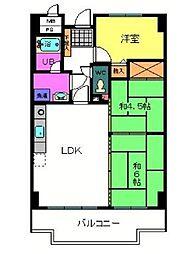 ライオンズマンション泉南樽井第2[4階]の間取り