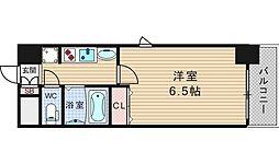 エステムコート難波サウスプレイス2レフィーナ[5階]の間取り