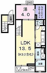エテルノ学園[4階]の間取り