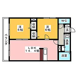 LOIRE Yb.[2階]の間取り