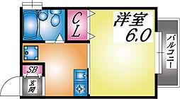 兵庫県神戸市灘区寺口町の賃貸アパートの間取り