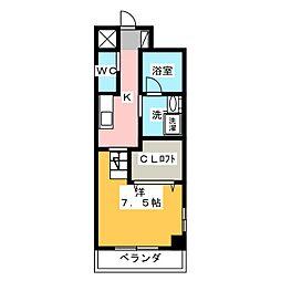 天王町コンフォート[5階]の間取り