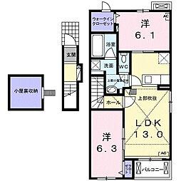 サンリット青柳 E[2階]の間取り