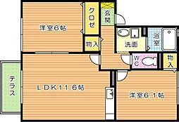 フローラ吉祥寺[1階]の間取り
