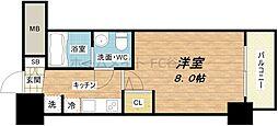 SERENiTE堺筋本町SUD[2階]の間取り