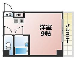 三景マンション[1階]の間取り