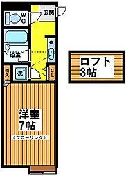 東京都世田谷区松原6丁目の賃貸マンションの間取り