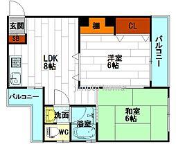 向井ビル[4階]の間取り