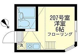 神奈川県川崎市川崎区貝塚2丁目の賃貸アパートの間取り