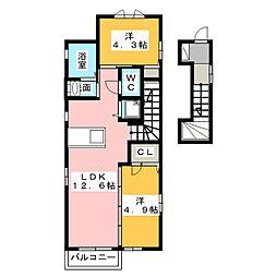 グランベールII[2階]の間取り