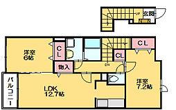 サンレミ[2階]の間取り