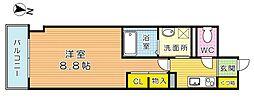 THE SQUARE・Club Residence (ザ・ス[803号室]の間取り