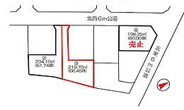 前面道路 北西側6m道路に接道しています。