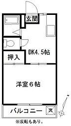 カルム深大寺[1階]の間取り