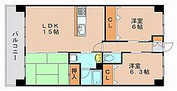 ウィンドウ2[9階]の間取り