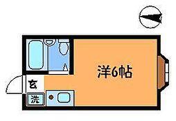 東京都調布市東つつじケ丘三丁目の賃貸アパートの間取り