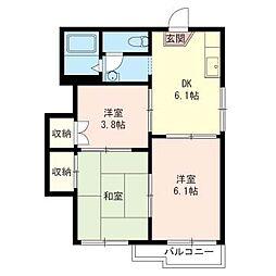 シャトレAZUMA[2階]の間取り