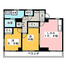 ライフコア 18[4階]の間取り