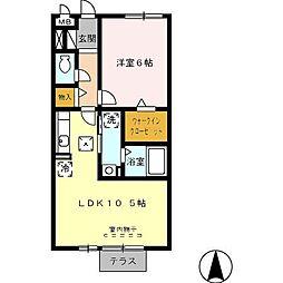 愛知県名古屋市北区如意3丁目の賃貸マンションの間取り