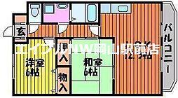 岡山県岡山市中区清水丁目なしの賃貸マンションの間取り