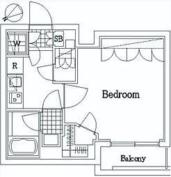 東京メトロ東西線 門前仲町駅 徒歩9分の賃貸マンション 1階1Kの間取り