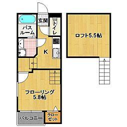 クレオ 箱崎 5番館[2階]の間取り