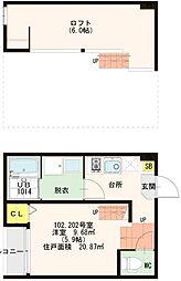 仮)東九条石田町SKHコーポ[1階]の間取り