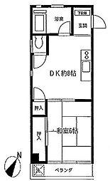 カトーハイツ[3階]の間取り