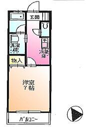 東京都町田市金井8丁目の賃貸アパートの間取り