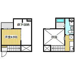 愛知県名古屋市港区辰巳町の賃貸アパートの間取り