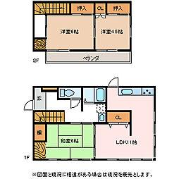 [一戸建] 長野県松本市元町2丁目 の賃貸【/】の間取り