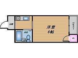 大阪府大阪市旭区中宮5丁目の賃貸マンションの間取り