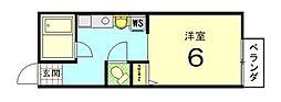 パンションエトワールデュノールII[207号室]の間取り