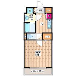 KWPlace平野[6階]の間取り