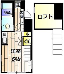 ガーデンコート豊田[103号室]の間取り