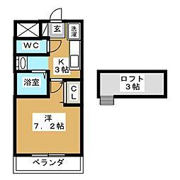 ヴィアルCity富沢[4階]の間取り