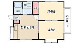 西大沼アパート[201号室]の間取り