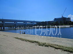 武庫川沿いの川