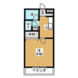 カーサ88小田原[2階]の間取り