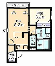 仮称 小川西町5丁目メゾン[1階]の間取り