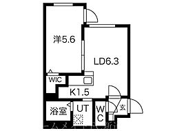 仮)N33E12 4階1LDKの間取り